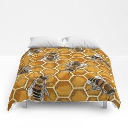 Honey Bee Beehive * Bumble Bees and Worker Bees Comforters