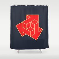 arrow Shower Curtains featuring Arrow by Dizzy Moments