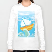 sail Long Sleeve T-shirts featuring Sail by Lany Nguyen