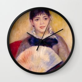 "Auguste Renoir ""Girl with a Fan"" Wall Clock"