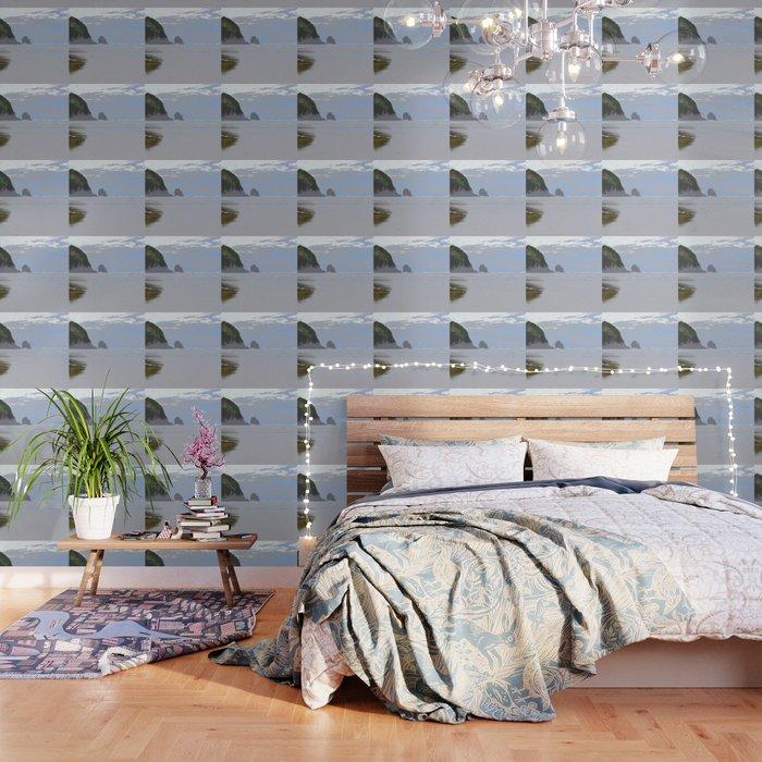 Illustrated Haystack Rock Wallpaper