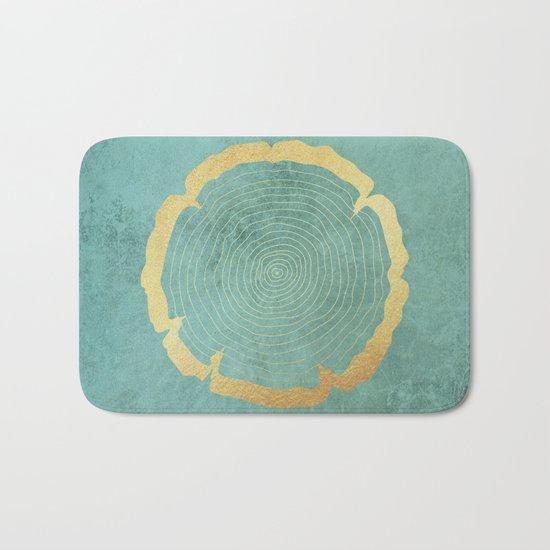 Gold Foil Tree Ring Bath Mat