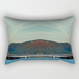 Bridge, scenery and some clouds | architectural photography Rectangular Pillow
