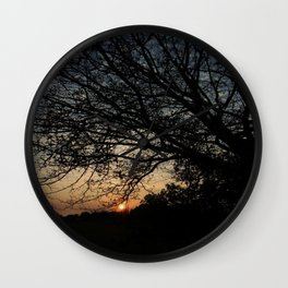Sunset hammock view Wall Clock