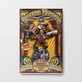 The Strongman: Sideshow Poster Metal Print