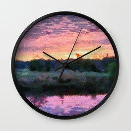 Monet Inspired Sunrise Wall Clock