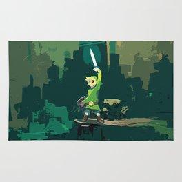 Legend Of Zelda Link Painting Art Rug