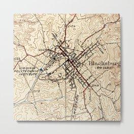 Vintage Map of Blacksburg Virginia (1932) Metal Print