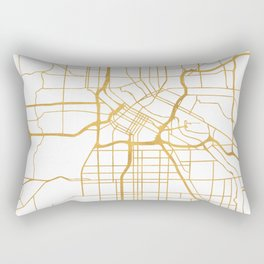 MINNEAPOLIS MINNESOTA CITY STREET MAP ART Rectangular Pillow