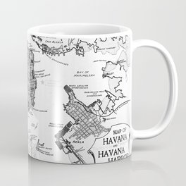 Vintage Map of Havana Cuba (1898) 2 BW Coffee Mug