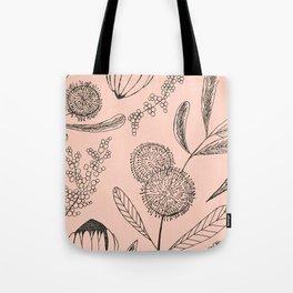 Floating Blush Garden Tote Bag