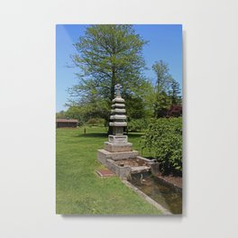 Joe and Marie Schedel Pagoda- vertical Metal Print