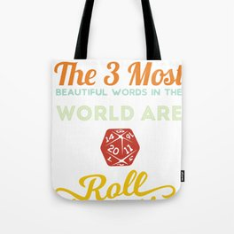 Roll On Initiative Tabletop RPG Gamer  Tote Bag