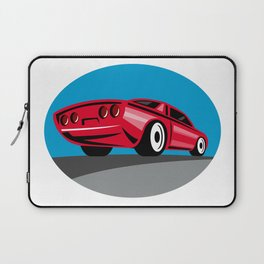 American Muscle Car Oval Retro Laptop Sleeve