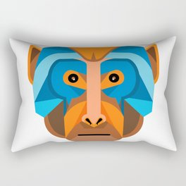 Rhesus Macaque Head Flat Icon Rectangular Pillow