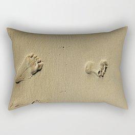Feet on Sand-Natural Rectangular Pillow