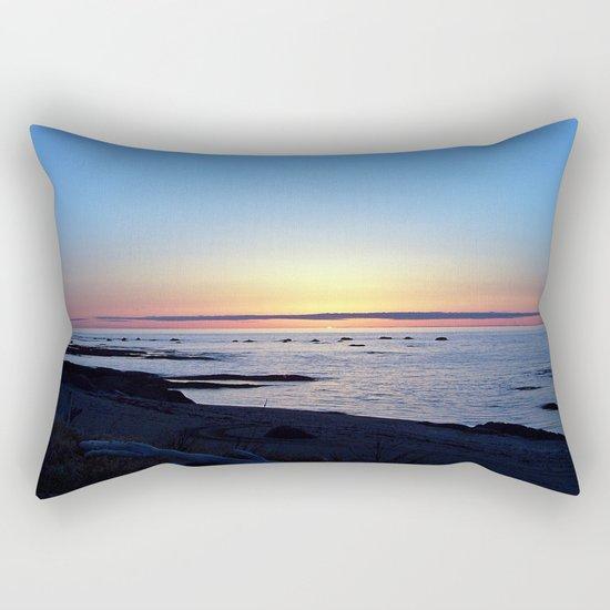 Sun Sets up the River, Across the Sea Rectangular Pillow