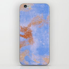 Glitter bursts onto blue iPhone Skin
