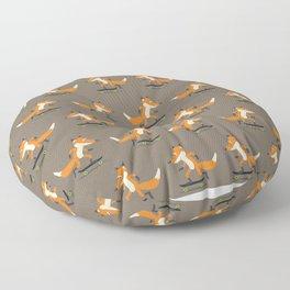Skateboarding fox Floor Pillow