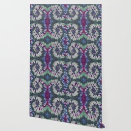 Mirror Spiral Tie Dye Purple Blue Green Wallpaper
