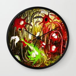 abstraction. fireworks Wall Clock