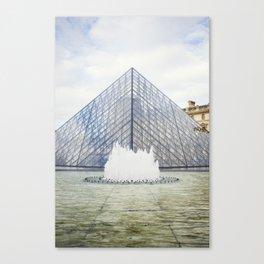 Louvre Pyramid Paris France Canvas Print