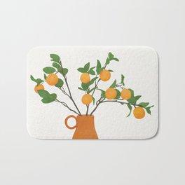 Orange Branches Bath Mat