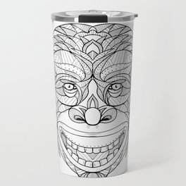 Chimpanzee Head Zentagle Travel Mug