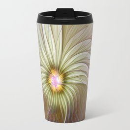 Fantasy Flower, Abstract Fractal Art Travel Mug