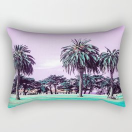 Three palm trees. Rectangular Pillow