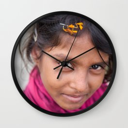 Slum Flower Wall Clock