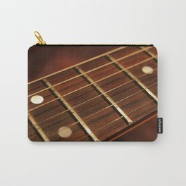 Close Up Of Guitar Neck Carry-All Pouch