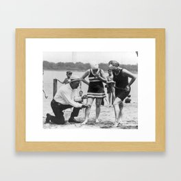 Bathing suit problems Framed Art Print