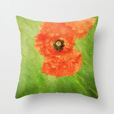 Poppy Paint Throw Pillow