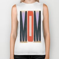 mom Biker Tanks featuring mOm by NevFina