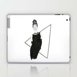 Girl in a black dress Laptop & iPad Skin