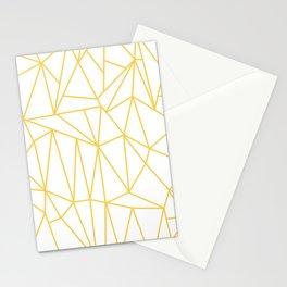 Geometric Cobweb (Light Orange & White Pattern) Stationery Cards