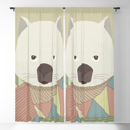 Whimsical Wombat Blackout Curtain