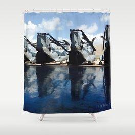 CH46 New Hanger Deck Shower Curtain