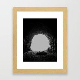 Cave Interior Framed Art Print