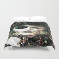 bowie Duvet Covers featuring BOWIE by Vonis