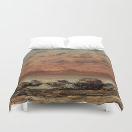The Black Rocks at Trouville Gustave Courbet Painting Duvet Cover