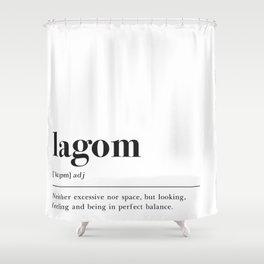 Lagom Definition Shower Curtain