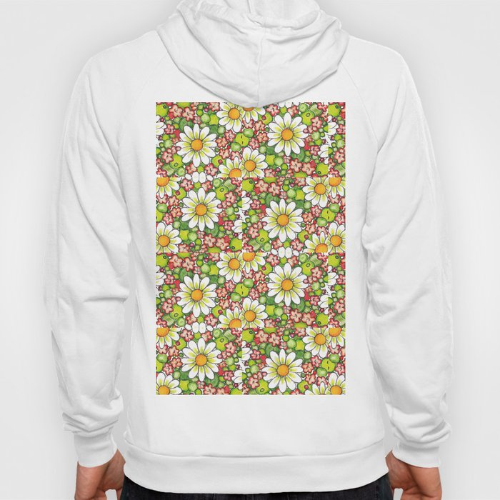 Christmas Daisy and Berries Pattern Hoody