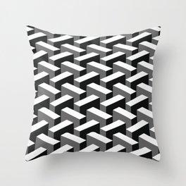 Escher pattern I Throw Pillow