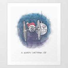 A Novelty Christmas TIE Art Print