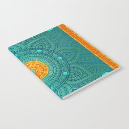 """Turquoise and Gold Mandala"" Notebook"