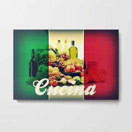 Cucina Italian Flag Metal Print