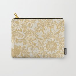 Floral in Yellow Carry-All Pouch