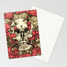 Tattooed Skull Stationery Cards